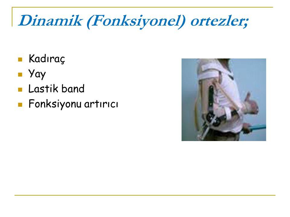 Dinamik (Fonksiyonel) ortezler; Kadıraç Yay Lastik band Fonksiyonu artırıcı