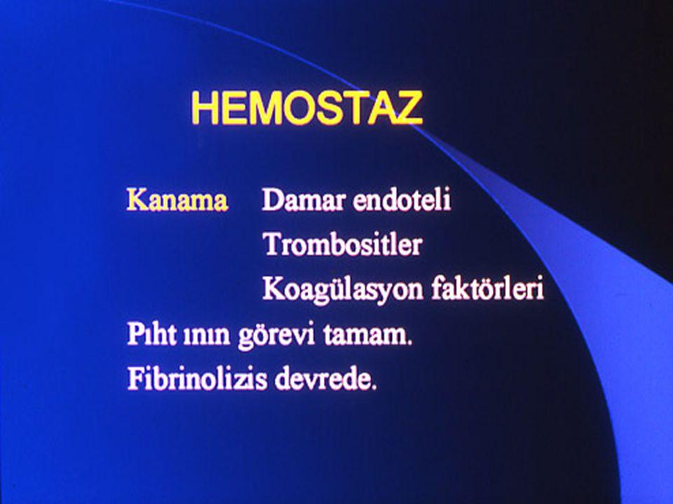 TANISAL TESTLER Birinci Basamak Protrombin zamanı Protrombin zamanı Aktive parsiyel tromboplastin zamanı Aktive parsiyel tromboplastin zamanı Trombin zamanı Trombin zamanı Fibrinojen Fibrinojen D – dimer D – dimer Fibrin yıkım ürünleri Fibrin yıkım ürünleri
