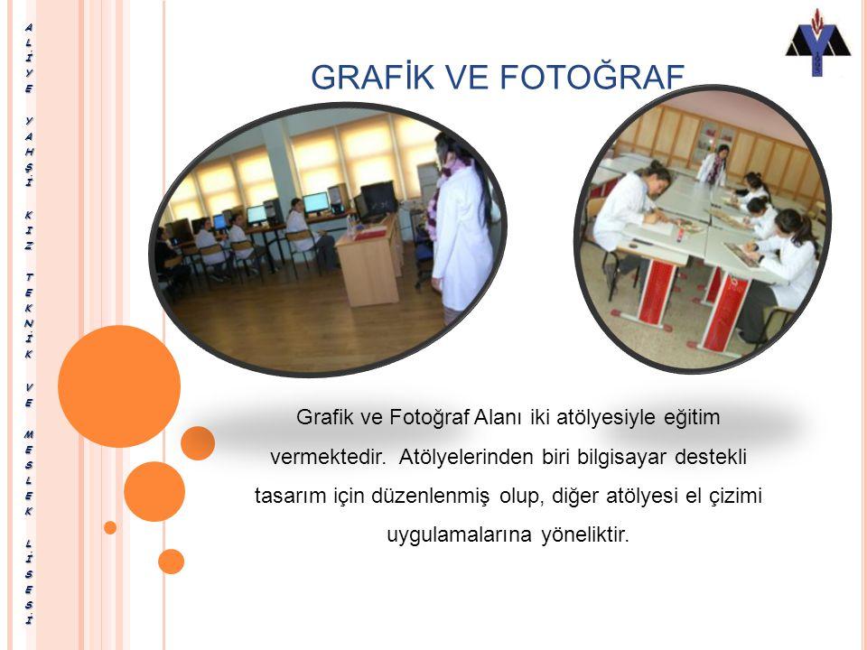 Okulumuzda, bu alan kapsamında Grafik Dalı eğitimi verilmektedir. Grafik; Grafik ve Fotoğraf Alanı altında grafiker mesleğinin yeterliklerine sahip me