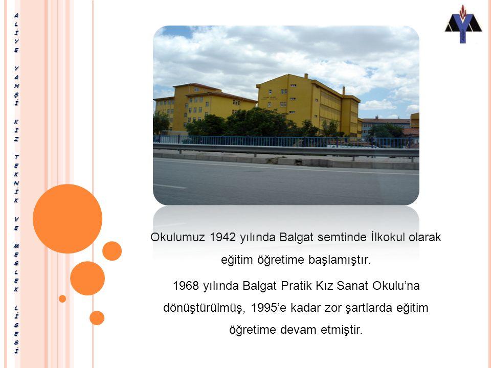 ALİYE YAHŞİ KIZ TEKNİK VE MESLEK LİSESİ ADRES: Ziyabey Caddesi 1416.