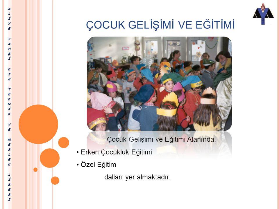 ÇOCUK GELİŞİMİ VE EĞİTİMİ Çocuk Gelişimi ve Eğitimi Alanı, altında yer alan dalların yeterliklerini kazandırmaya yönelik eğitim ve öğretim vermektedir