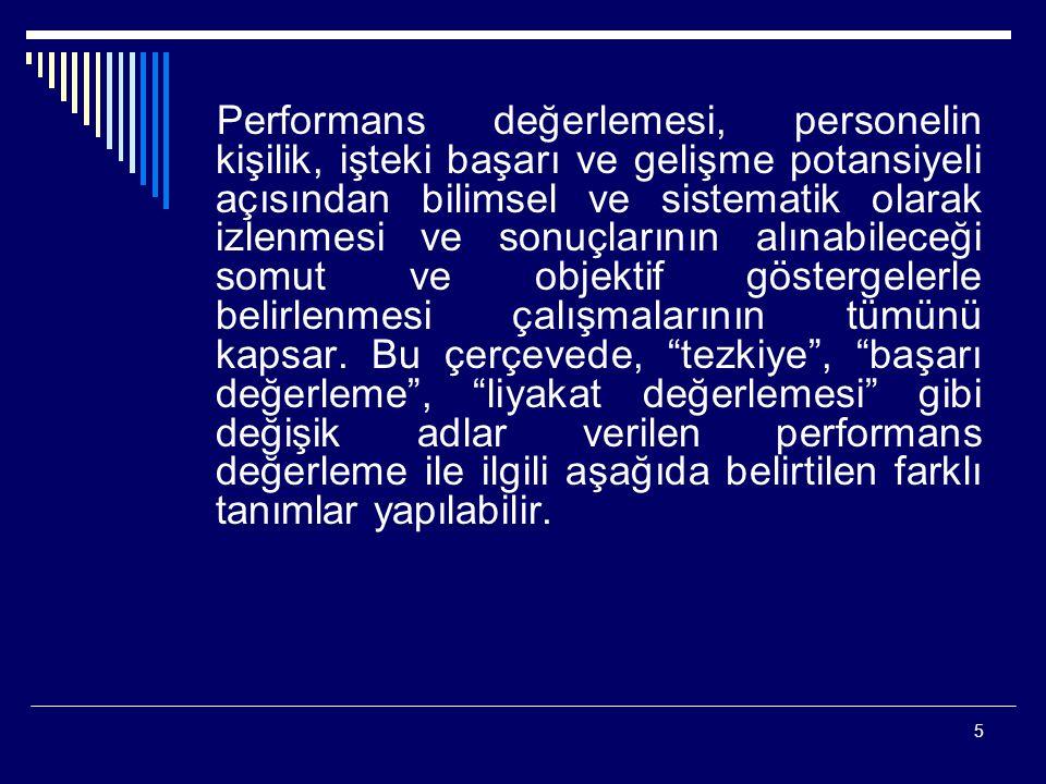 46 360 DERECE PERFORMANS DEĞERLEME YÖNTEMİ