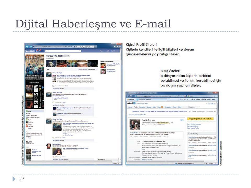 Dijital Haberleşme ve E-mail 27