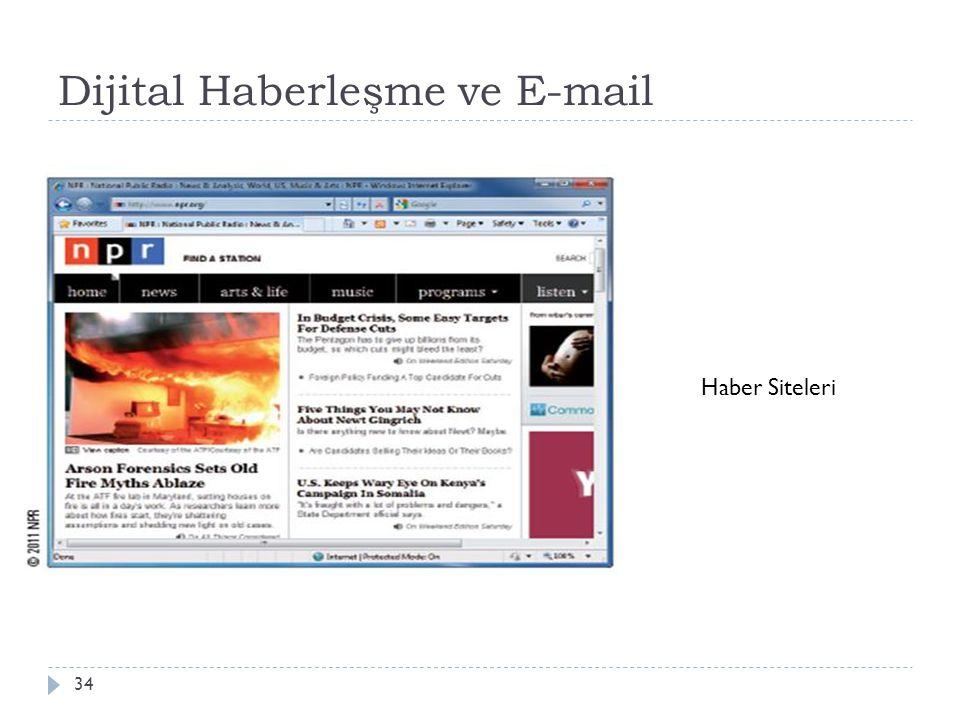 Dijital Haberleşme ve E-mail 34 Haber Siteleri