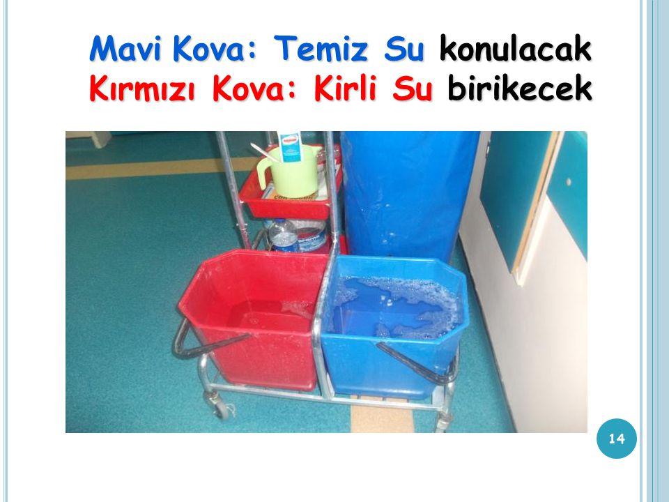 MaviKova: Temiz Su konulacak Mavi Kova: Temiz Su konulacak Kırmızı Kova: Kirli Su birikecek 14