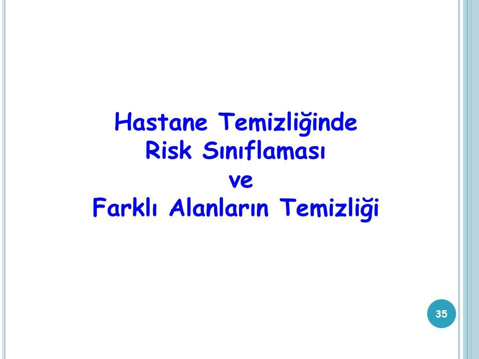 Hastane Temizliğinde Risk Sınıflaması ve Farklı Alanların Temizliği 35