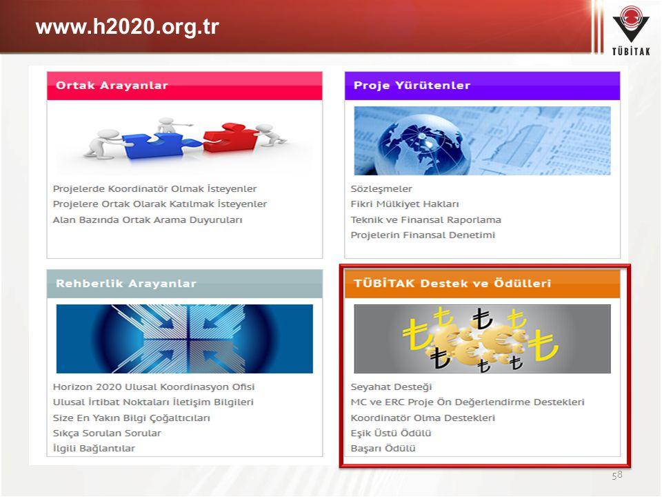 www.h2020.org.tr 58