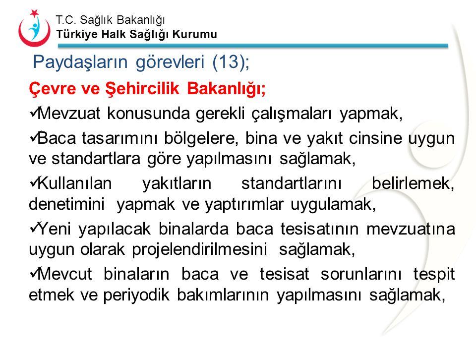 T.C. Sağlık Bakanlığı Türkiye Halk Sağlığı Kurumu Paydaşların görevleri (12); Başbakanlık Basın –Yayın ve Enformasyon Genel Müdürlüğü; Karbonmonoksit