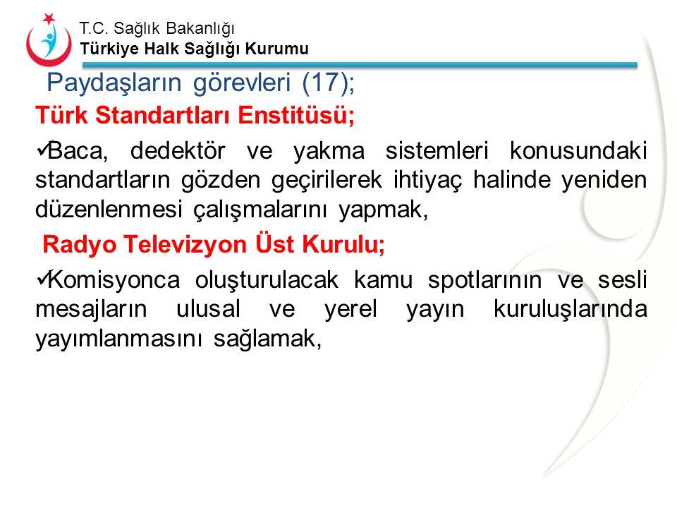 T.C. Sağlık Bakanlığı Türkiye Halk Sağlığı Kurumu Diyanet İşleri Başkanlığı; Komisyonca hazırlanacak karbonmonoksit zehirlenmeleri ve alınacak tedbirl