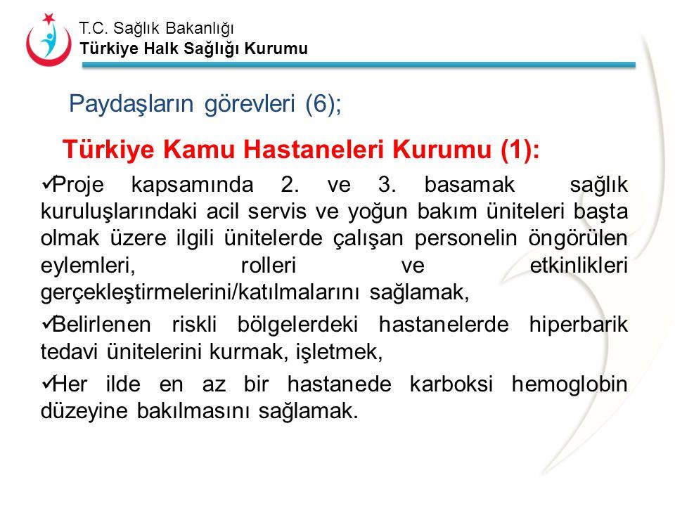 T.C. Sağlık Bakanlığı Türkiye Halk Sağlığı Kurumu Paydaşların görevleri (5); THSK Ulusal Zehir Danışma Merkezi; Karbonmonoksit zehirlenmesi konusunda