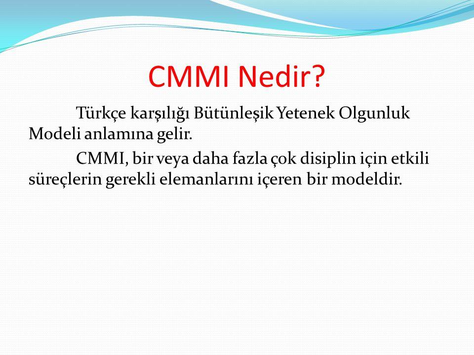 CMMI Nedir? Türkçe karşılığı Bütünleşik Yetenek Olgunluk Modeli anlamına gelir. CMMI, bir veya daha fazla çok disiplin için etkili süreçlerin gerekli