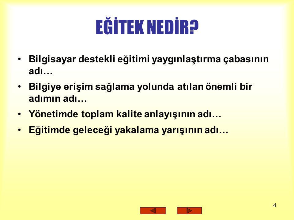 5 EĞİTEK EĞİTİM TEKNOLOJİLERİ GENEL MÜDÜRLÜĞÜ YAPTIKLARI...
