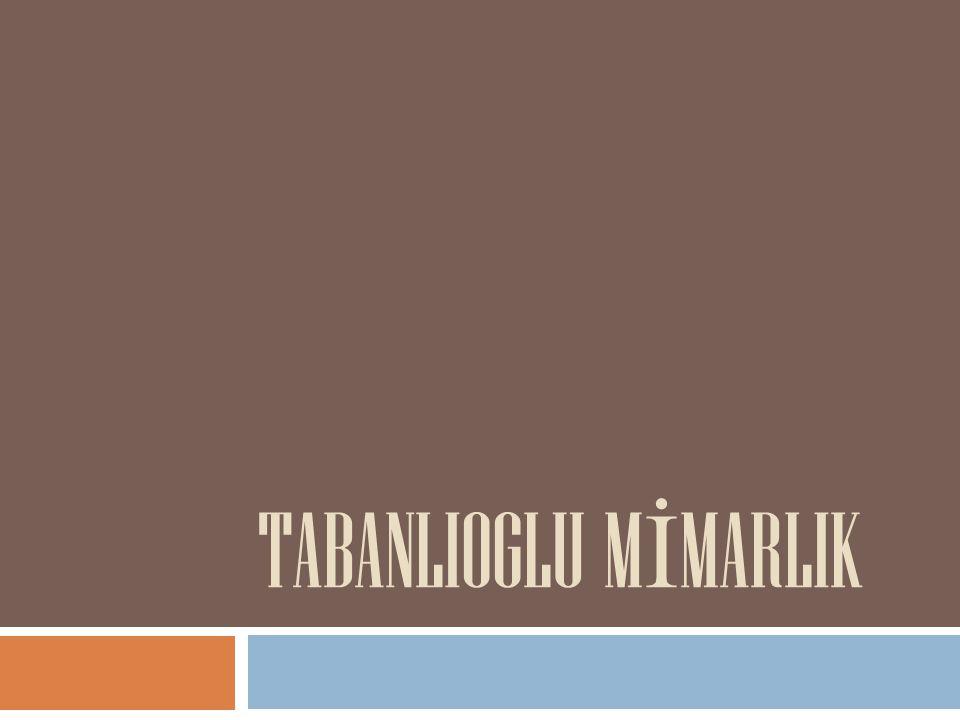 TABANLIOGLU M İ MARLIK