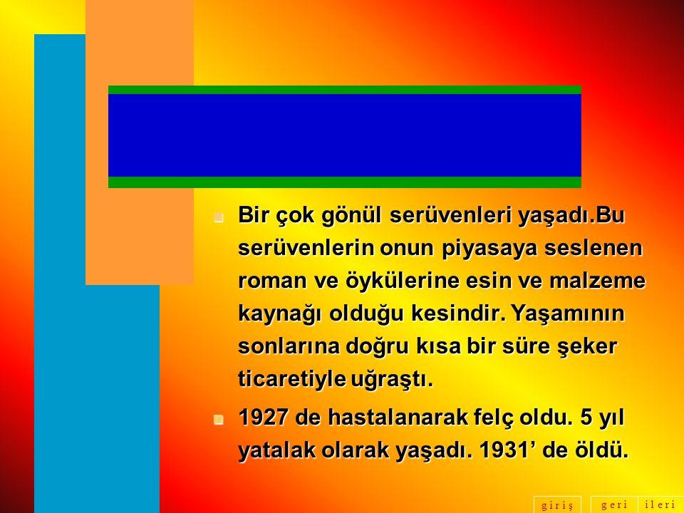 g e r ii l e r i g i r i ş n İlk evliliğini, 1901 de Ayşe Sermet Hanım'la yaptı.