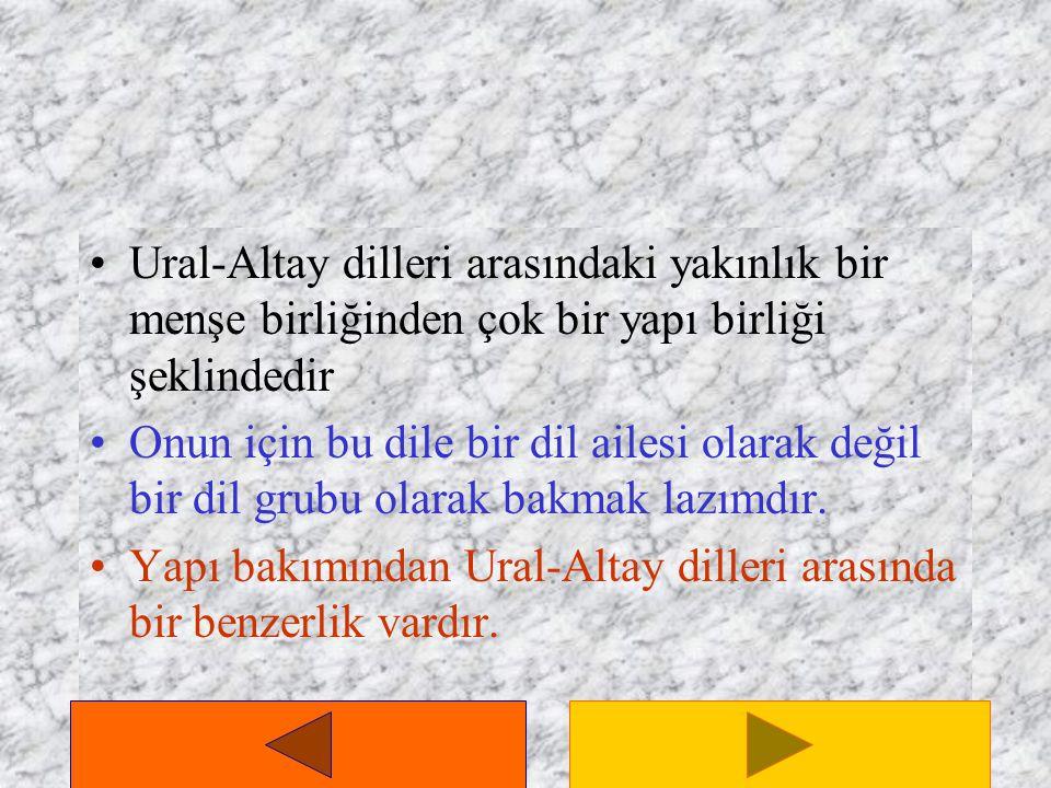 Türkçe'nin Dünya Dilleri Arasındaki Yeri Yer yüzündeki diller arasında Türkçe'nin içine girdiği grup Ural-Altay dilleri grubudur.