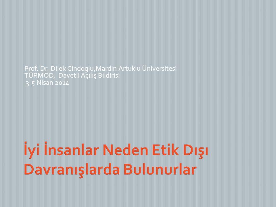 Prof. Dr. Dilek Cindoglu,Mardin Artuklu Üniversitesi TÜRMOD, Davetli Açılış Bildirisi 3-5 Nisan 2014