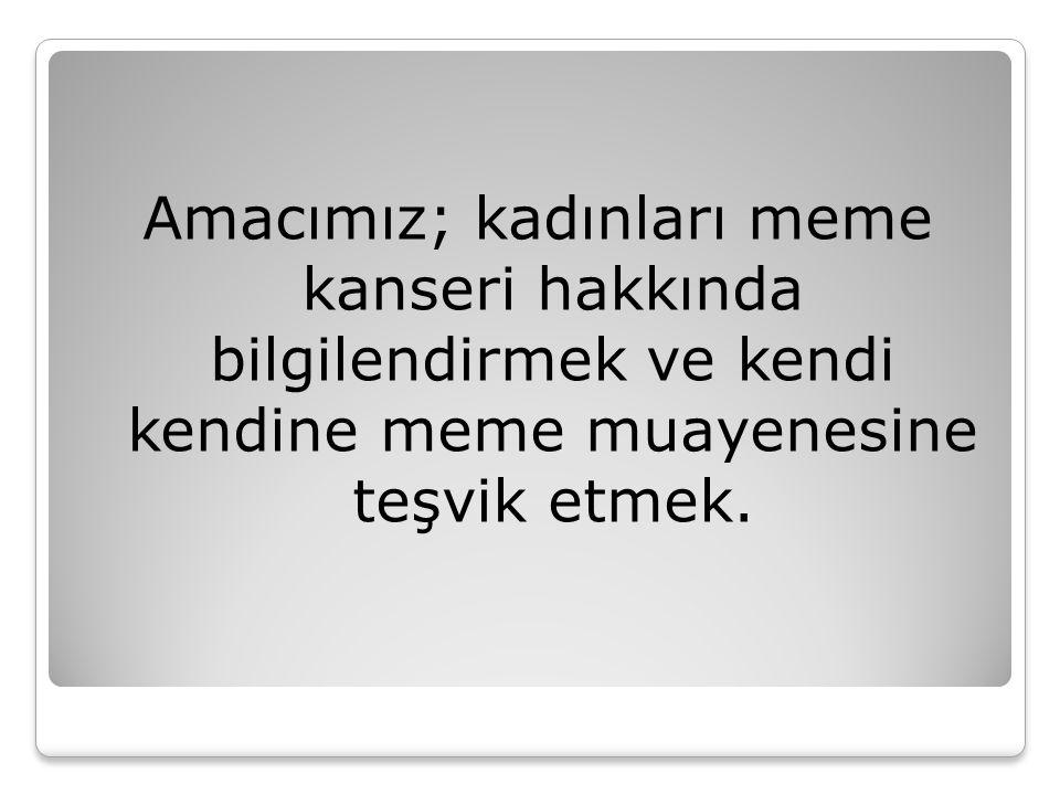 Biz bunun için…