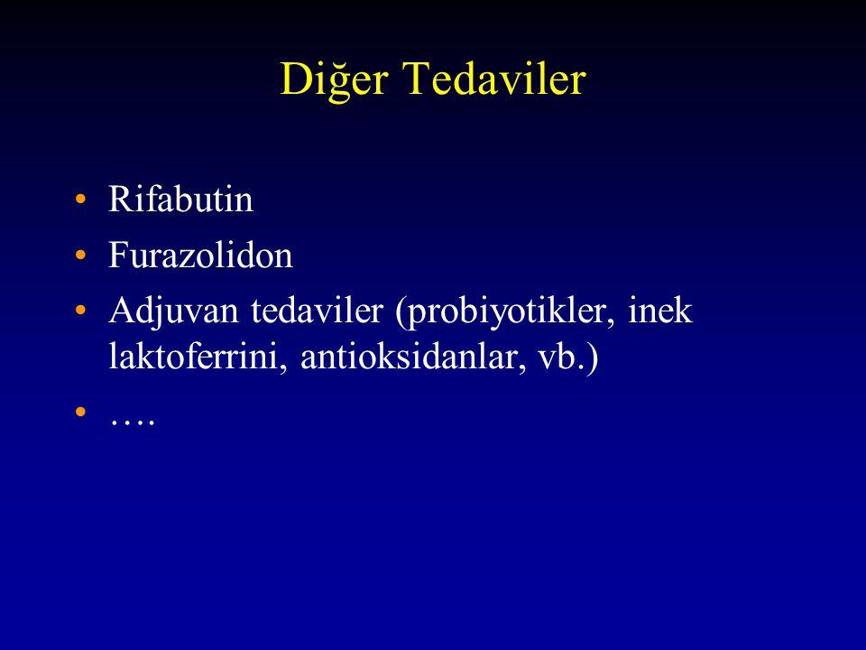 Diğer Tedaviler Rifabutin Furazolidon Adjuvan tedaviler (probiyotikler, inek laktoferrini, antioksidanlar, vb.) ….