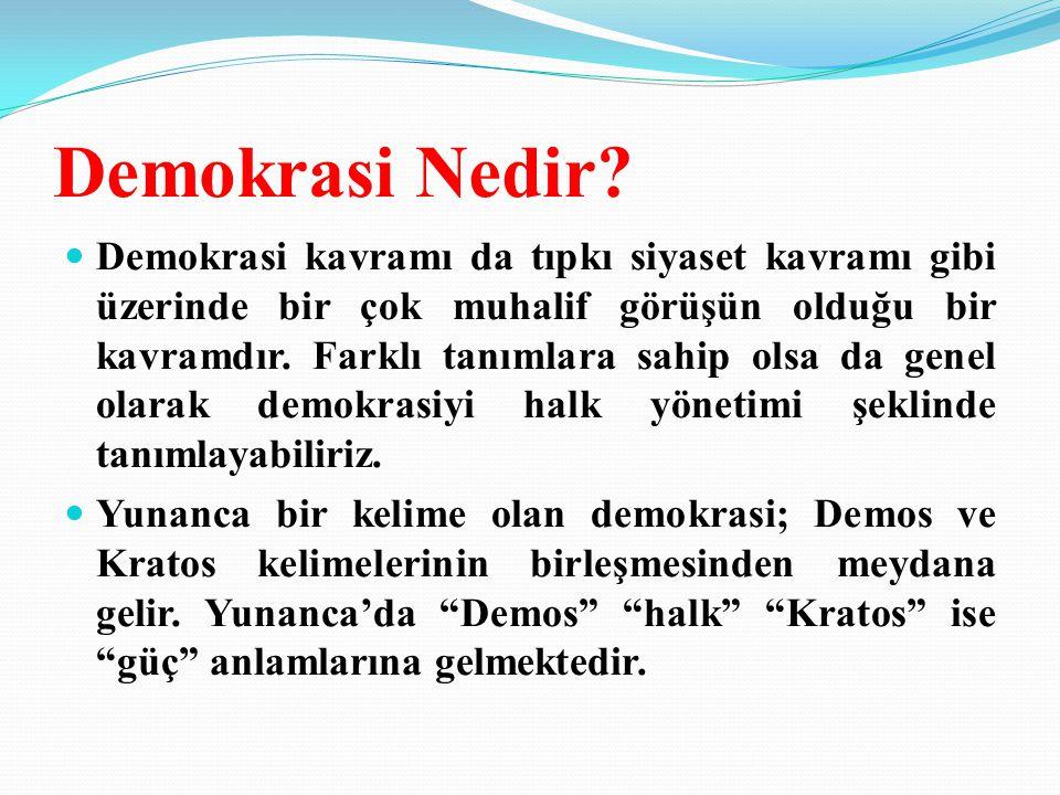 Demokrasinin Temel İlkeleri Nelerdir?