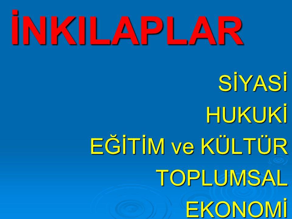 -Toplumsal eşitliği sağlamak.-Türk kültürünü geliştirmek.