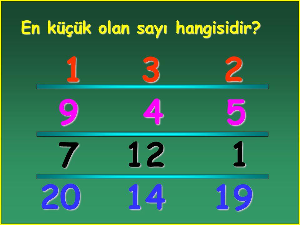Hangi sayı diğerinden küçüktür? 2 5 6 1011 1114 1