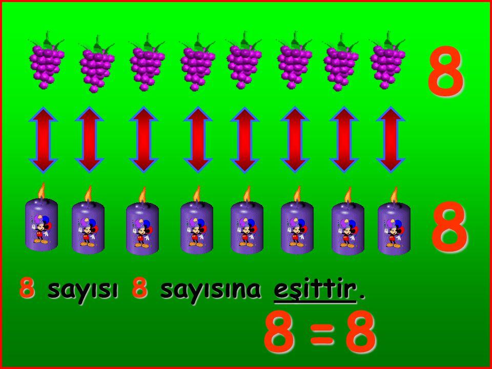 7 7 7 sayısı 7 sayısına eşittir. 7=7