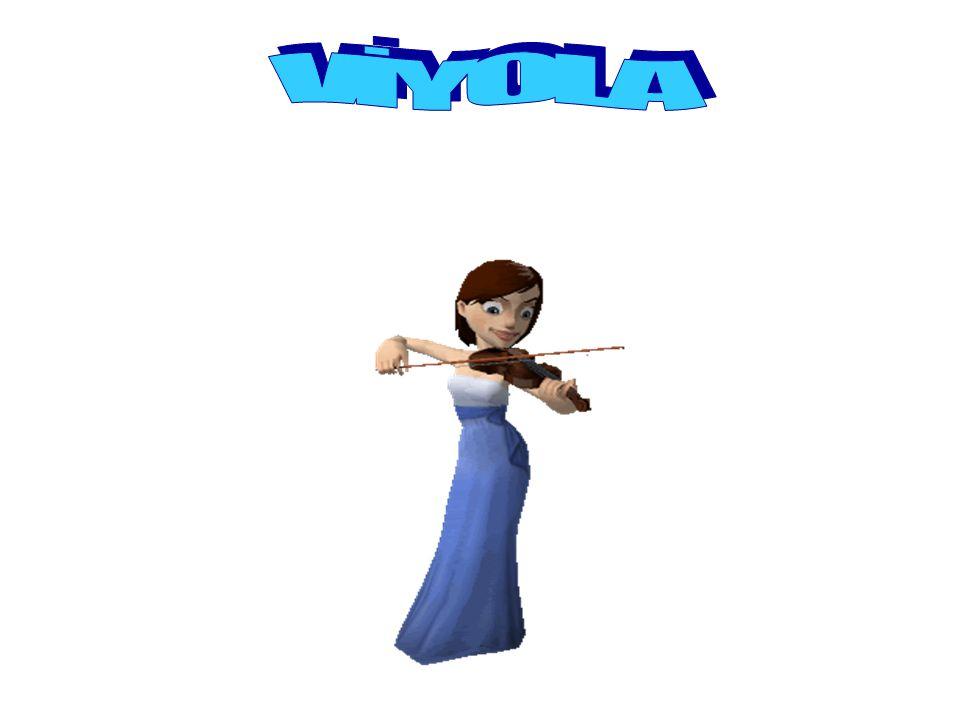VİYOLA Viyola yaylı çalgılar keman ailesinin ikincisidir ve şekli kemana benzemekle beraber kemandan biraz daha büyüktür.yaylı çalgılar Parmak ve yay tekniği, pozisyonlar ve değişik ses renklerini elde etme yöntemleri kemandan farksızdır.