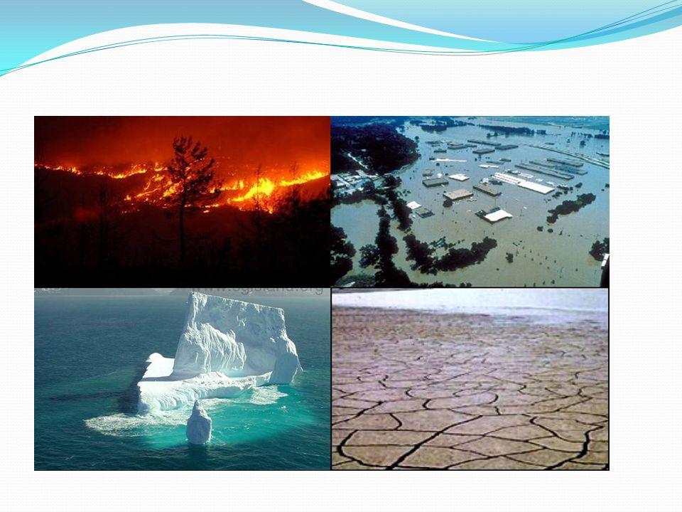 KÜRESEL ISINMANIN SONUÇLARI Sıcak hava dalgaları, seller, kasırgalar, yangınlar, kuraklık ve bunların sebep olacağı hastalıklar yüzünden milyonlarca i