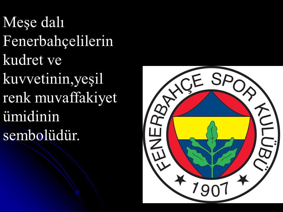 Meşe dalı Fenerbahçelilerin kudret ve kuvvetinin,yeşil renk muvaffakiyet ümidinin sembolüdür.