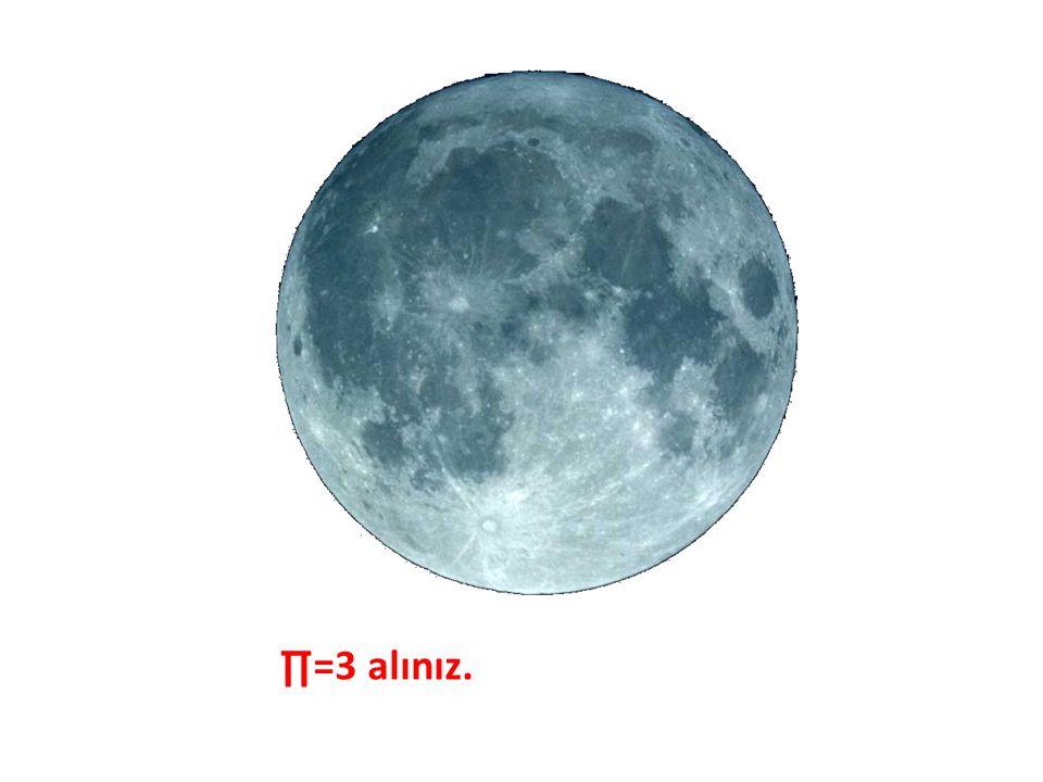 Ayın çapı 3475 km'dir. Ayın çevresi kaç km? ∏=3 alınız.