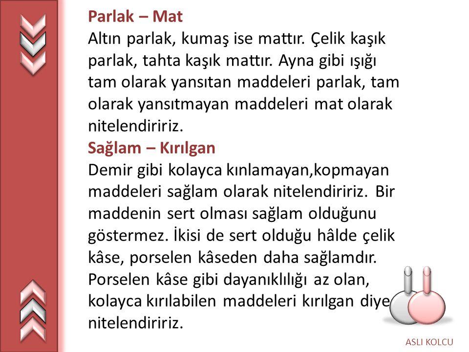 ASLI KOLCU G.KARIŞIMLAR AYRILABİLİR Mİ.