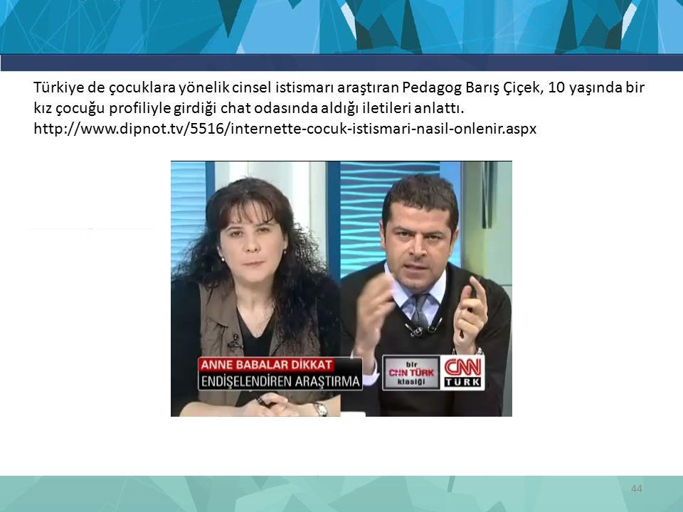 44 Türkiye de çocuklara yönelik cinsel istismarı araştıran Pedagog Barış Çiçek, 10 yaşında bir kız çocuğu profiliyle girdiği chat odasında aldığı iletileri anlattı.