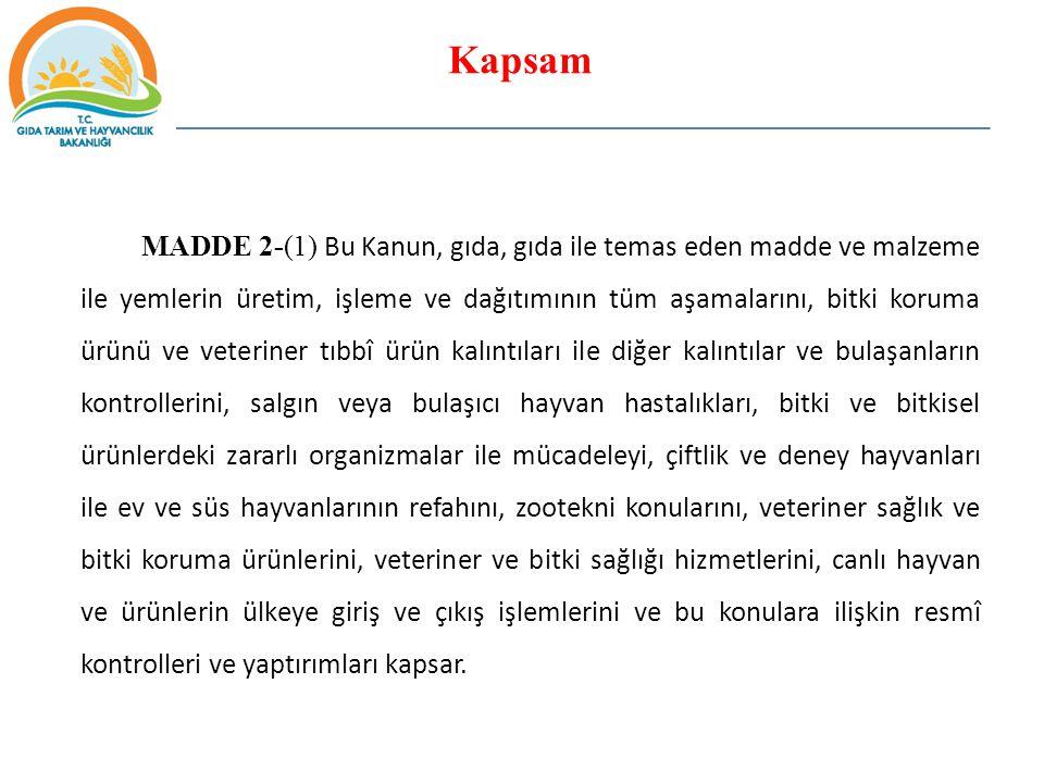 GIDALARDA BULUNMASI MUHTEMEL TEHLİKELER