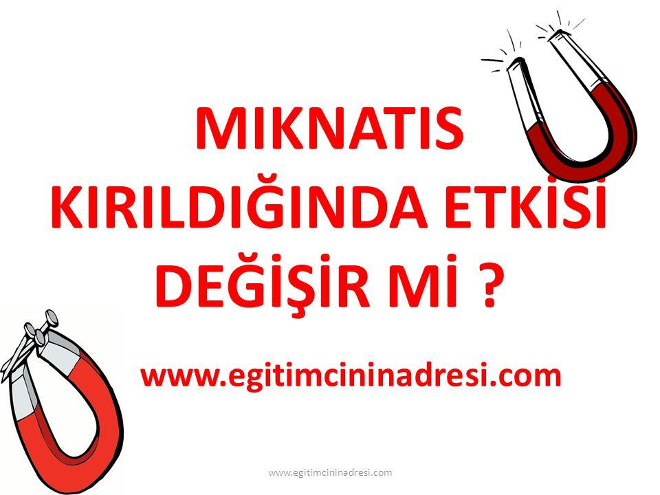 MIKNATIS KIRILDIĞINDA ETKİSİ DEĞİŞİR Mİ ? www.egitimcininadresi.com www.egitimcininadresi.com