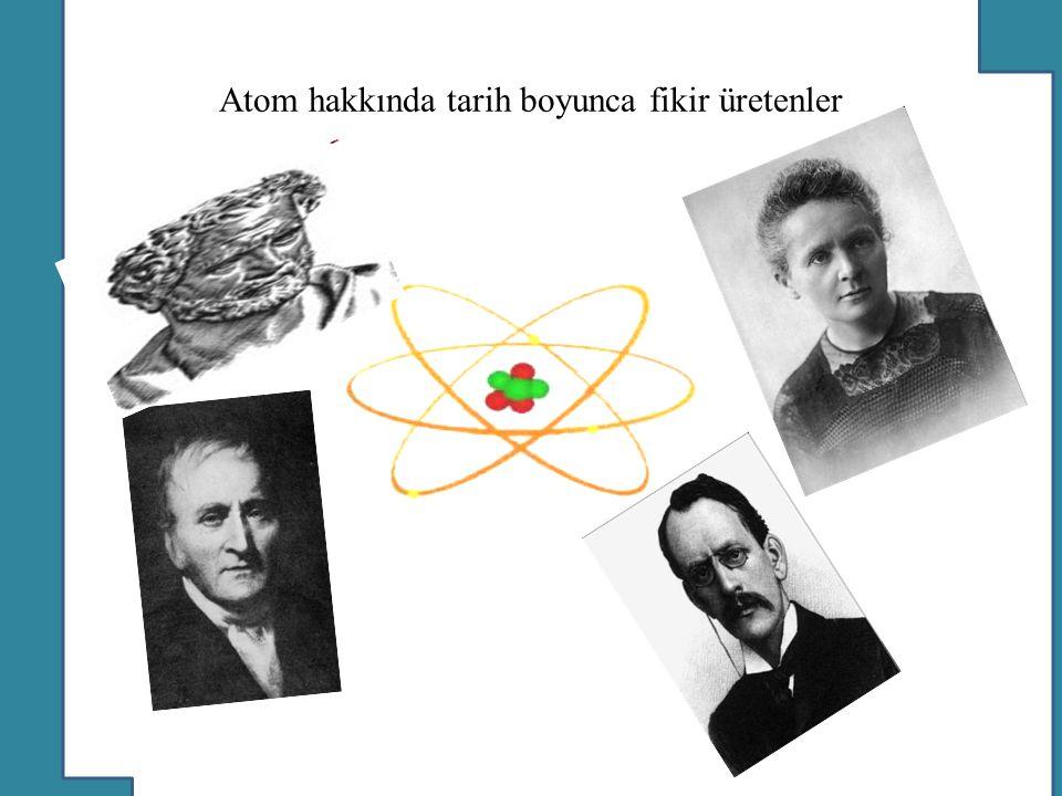 Atom hakkında tarih boyunca fikir üretenler