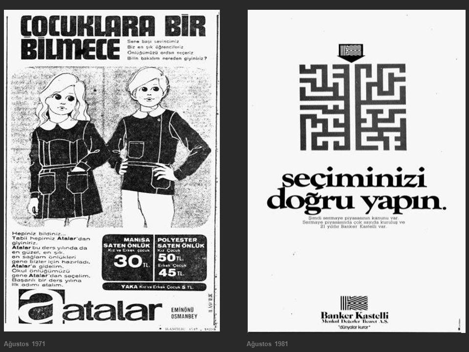 Ağustos 1971 Ağustos 1981
