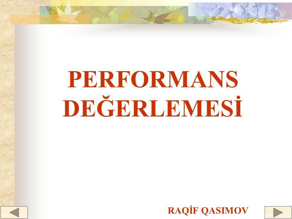 PERFORMANS DEĞERLEMESİ RAQİF QASIMOV