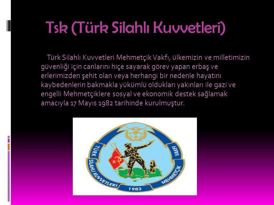 Tsk (Türk Silahlı Kuvvetleri) Türk Silahlı Kuvvetleri Mehmetçik Vakfı, ülkemizin ve milletimizin güvenliği için canlarını hiçe sayarak görev yapan erb