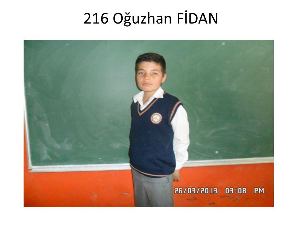 218 Sultan YILDIZ 1999 YILINDA Afyon'da doğdu.1 yaşından beri Denizli'de yaşıyor.