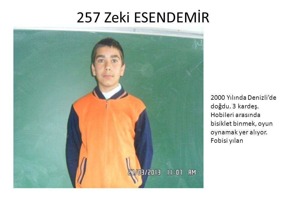 253 Sedanur SAKA 2000 Yılında İzmir'de doğdu.Memleketi Afyon.