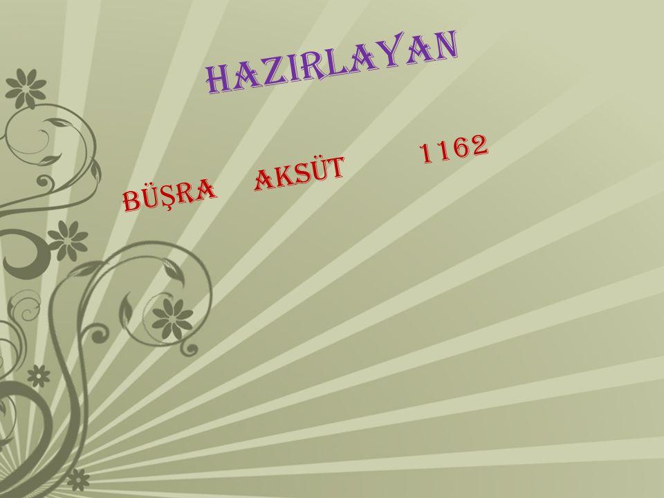 HAZIRLAYAN BÜ Ş RA AKSÜT 1162