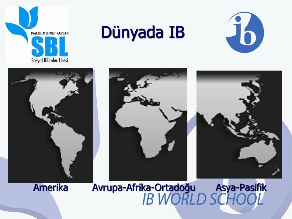 Dünyada IB 2013 yılı itibariyle 146 ülke ve 3677 okulda, 1.139.000'den fazla öğrenci tarafından uygulanmakta ve 146 ülkede 2838 üniversite tarafından kabul edilmektedir.