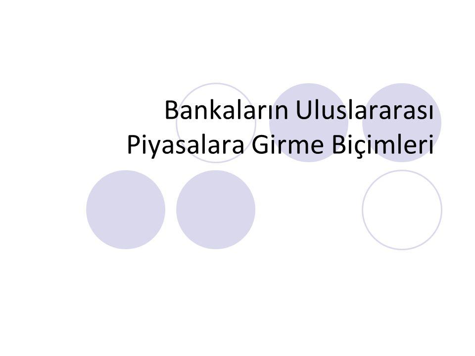 Bankaların Uluslararası Piyasalara Girme Biçimleri