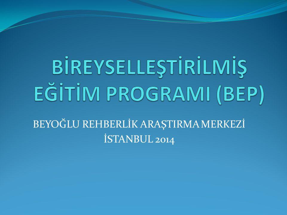 BEYOĞLU REHBERLİK ARAŞTIRMA MERKEZİ İSTANBUL 2014