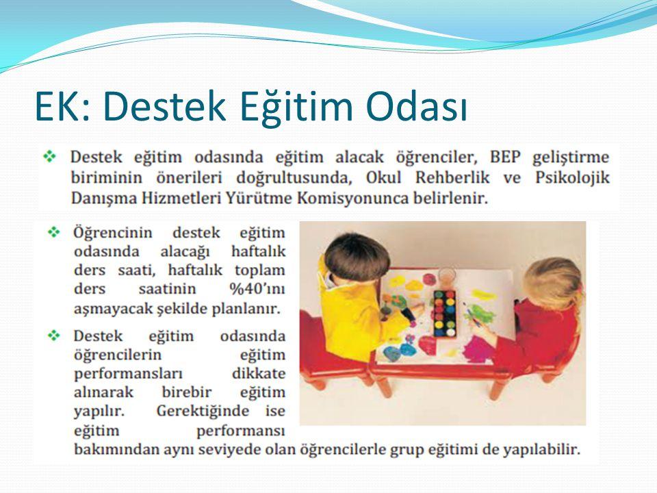 EK: Destek Eğitim Odası