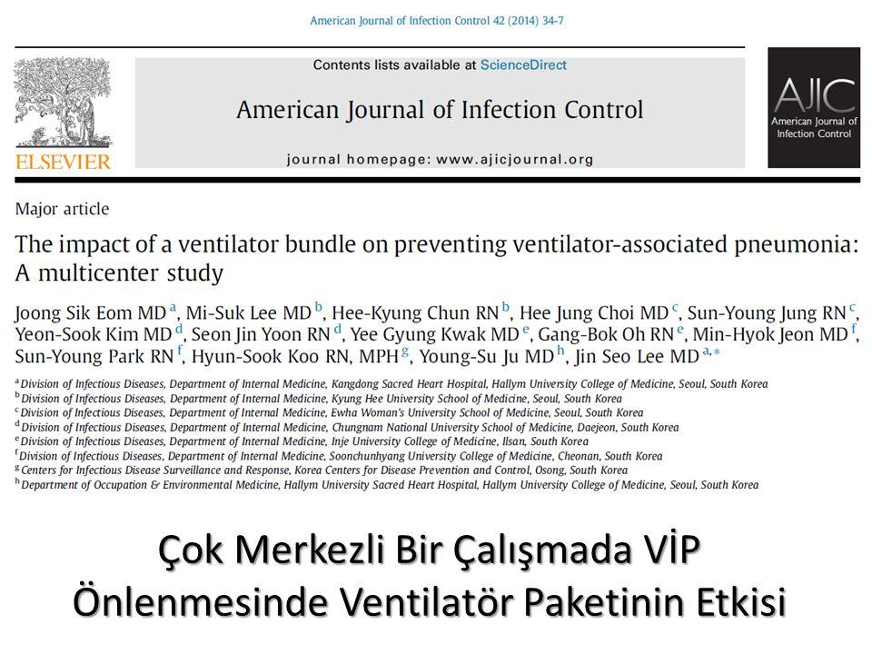 Çok Merkezli Bir Çalışmada VİP Önlenmesinde Ventilatör Paketinin Etkisi