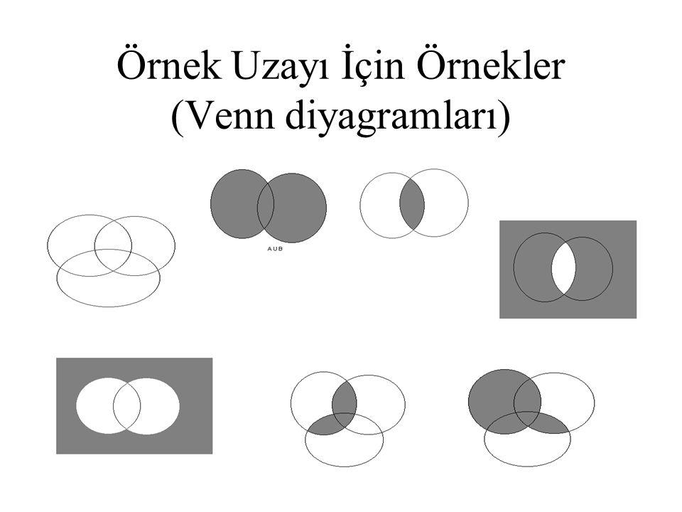 Örnek Uzayı İçin Örnekler (Venn diyagramları)