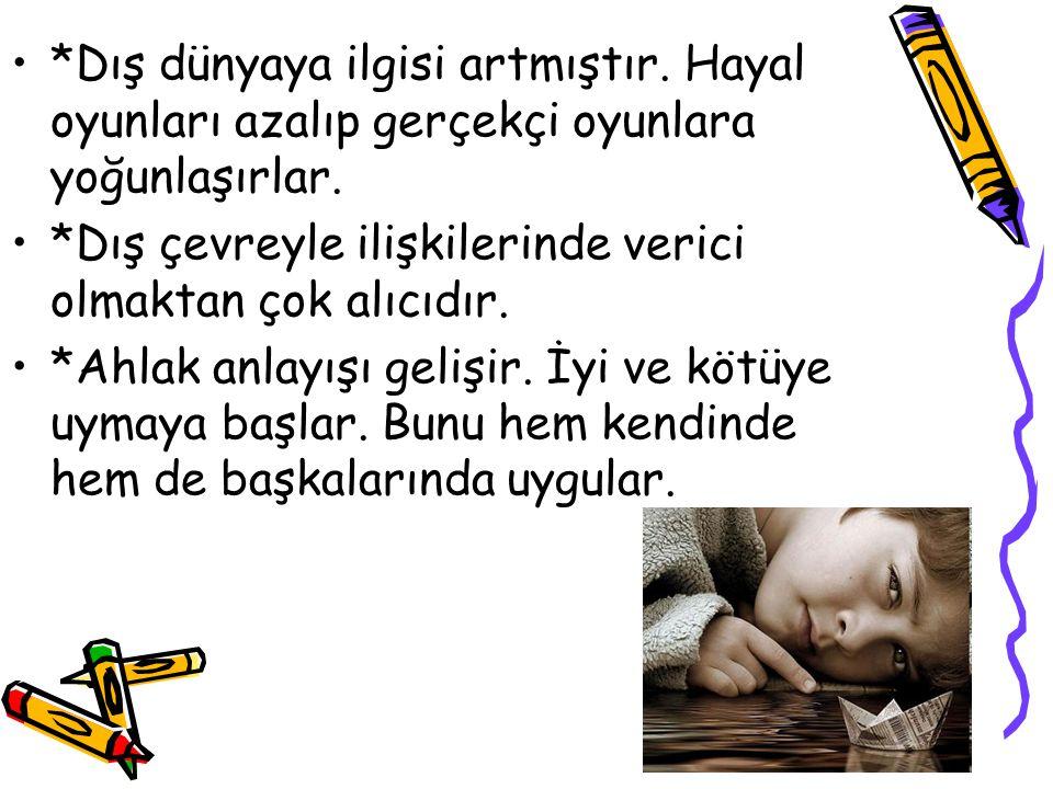 * Ağlama olayı çocuksu karakterini kaybeder, içten ve incinmiş durumlarda görülür.
