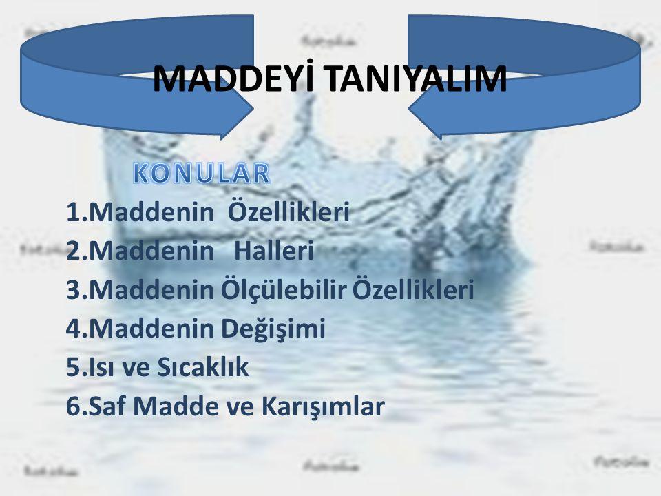 MADDEYİ TANIYALIM