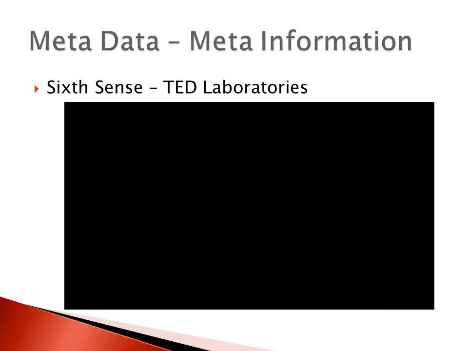  Sixth Sense – TED Laboratories